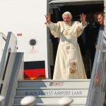 Ankunft S.H. Papst Benedikt in Lahr